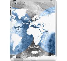 Blue ocean world map iPad Case/Skin