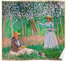 1887-Claude Monet-In the Woods at Giverny-91x97 Poster