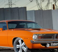 Orange 1970 Plymouth Barracuda Sticker