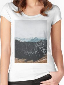Interstellar landscape photography Women's Fitted Scoop T-Shirt