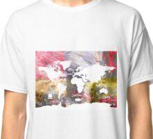 World map grunge amazing Classic T-Shirt