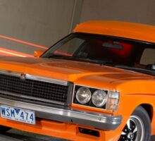 Orange Holden Sandman Panel Van Sticker