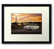 Cream Ford Falcon XM Coupe Framed Print