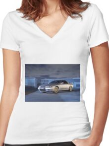 Silver Nissan R32 Skyline GTR #3 Women's Fitted V-Neck T-Shirt