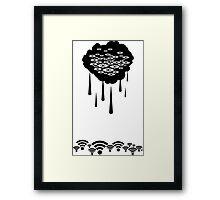 Storming Framed Print
