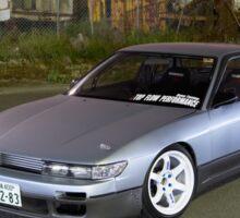 Silver Nissan S13 Silvia Sticker