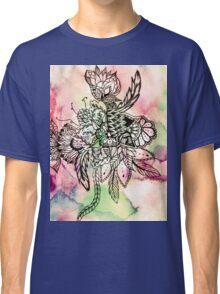 Ethnic bohemian watercolor handdrawn floral  Classic T-Shirt