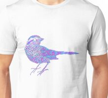 Pink and blue sparrow Unisex T-Shirt