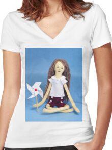 Celebrate Felt Doll Women's Fitted V-Neck T-Shirt