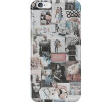 Faded pink and black tumblr collage. iPhone Case/Skin