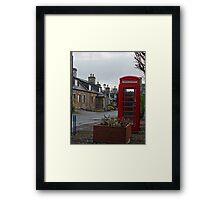 British Red Phone Box Framed Print
