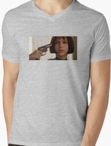 Mathilda the Professional Mens V-Neck T-Shirt