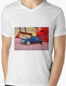 Supercharged Blue Holden HX Ute Mens V-Neck T-Shirt