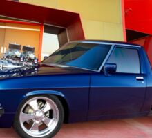 Supercharged Blue Holden HX Ute Sticker