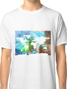 World map Adventure colors  Classic T-Shirt