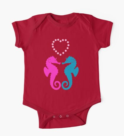 Two sea horses in love One Piece - Short Sleeve