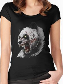 SALJU THE ANGRY PANDA Women's Fitted Scoop T-Shirt