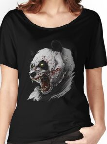 SALJU THE ANGRY PANDA Women's Relaxed Fit T-Shirt