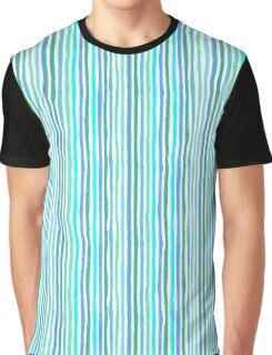Striped pattern hand drawn Graphic T-Shirt