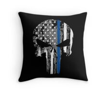 Punisher - Blue Line Throw Pillow