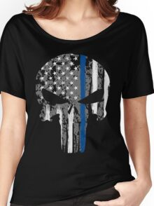 Punisher - Blue Line Women's Relaxed Fit T-Shirt