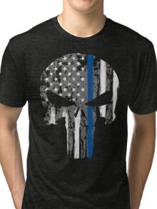 Punisher - Blue Line Tri-blend T-Shirt
