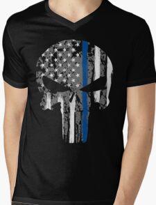 Punisher - Blue Line Mens V-Neck T-Shirt
