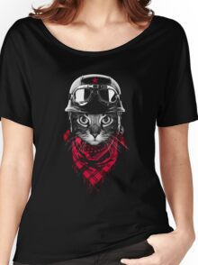 SALJU'S BIKER CAT Women's Relaxed Fit T-Shirt