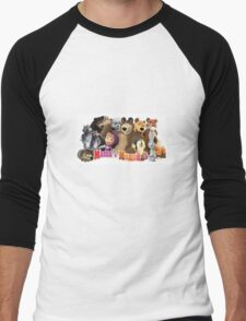 Masha and the bear Men's Baseball ¾ T-Shirt