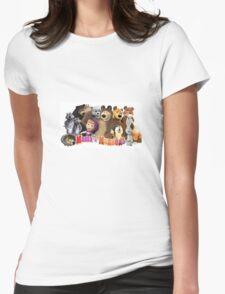 Masha and the bear Womens Fitted T-Shirt