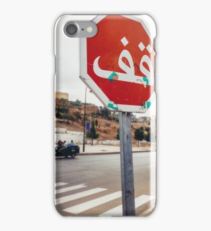 Stop Sign in Arabic iPhone Case/Skin