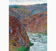 1889-Claude Monet-Port-Valley of the Creuse (Gray Day)-65 x 81 Unisex T-Shirt