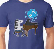 zebra & piano Unisex T-Shirt