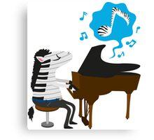 zebra & piano Canvas Print