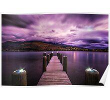 dreamy sky over lake wakatipu Poster