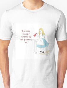 Alice in Wonderland and the Prosecco T-Shirt