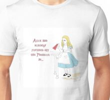 Alice in Wonderland and the Prosecco Unisex T-Shirt