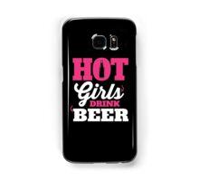 Hot girls drink beer Samsung Galaxy Case/Skin