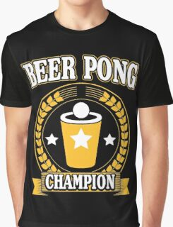 Beer Pong Champion Graphic T-Shirt