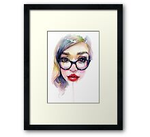 Librarian Girl Framed Print