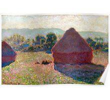 1890-Claude Monet-Meules, milieu du jour [Haystacks, midday]-65 x 100 Poster