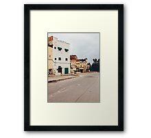 Suburban Houses in Morocco Framed Print