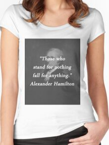 Hamilton - Stand for Nothing Women's Fitted Scoop T-Shirt