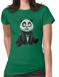 SITTING BABY PANDA Womens Fitted T-Shirt