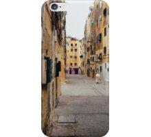 Old Woman Walking Through Poor Neighbourhood iPhone Case/Skin