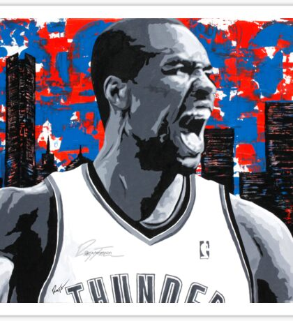 Ibaka Painting from the Roar Collection Sticker
