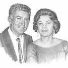 grandparents drawing by Mike Theuer