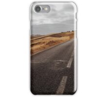 Empty Road in Gloomy Countryside iPhone Case/Skin