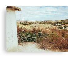 Rustic House in Dry Moroccan Countryside Canvas Print
