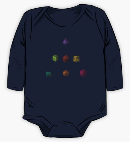 Colourful Polyhedron Dice One Piece - Long Sleeve